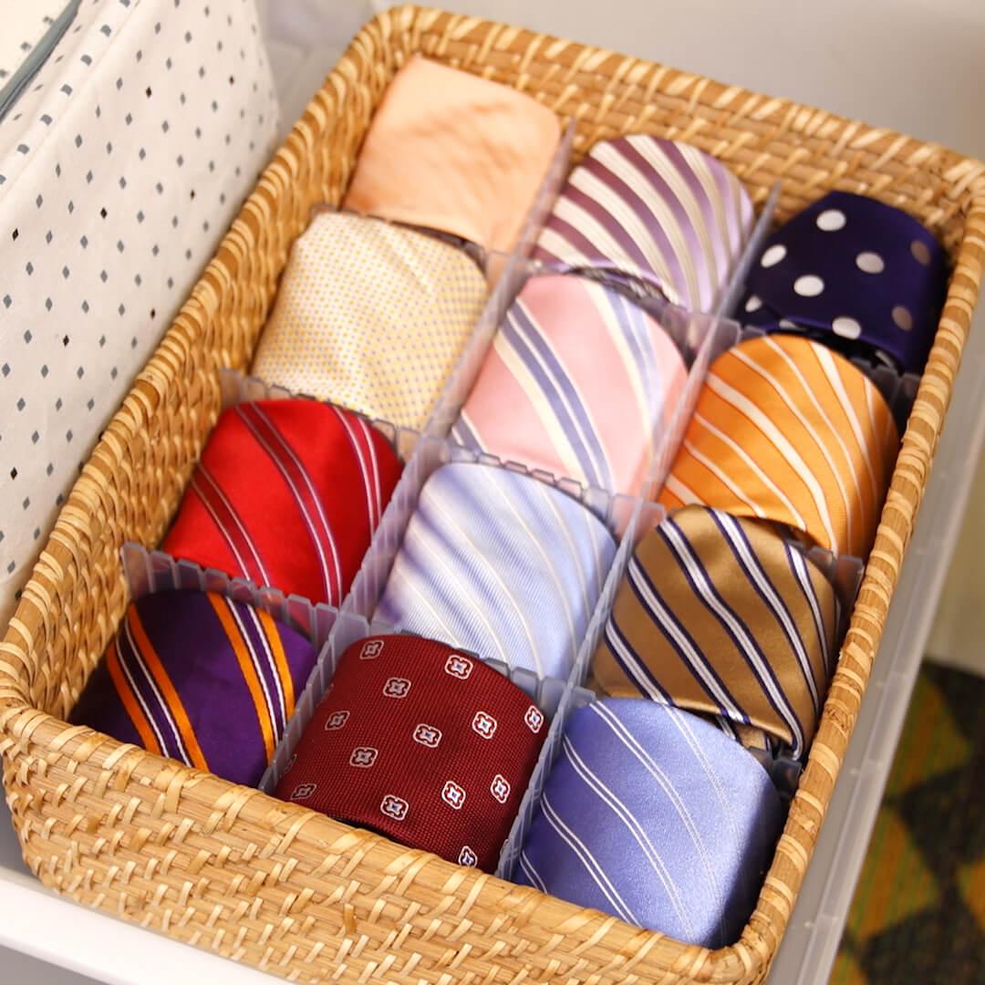 ネクタイ選びが楽しく!収納方法別メリット・デメリットとアイデア実例