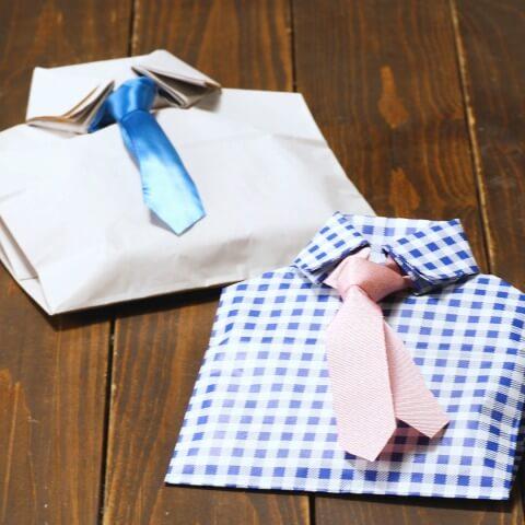 お父さんに贈りたい。折り紙で作る「ネクタイ型ラッピング」の作り方